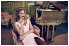 Erin Gets Seductive – Blonde bombshell Erin Heatherton stars in the December cover story of Elle Russia. Posing in front of Koray Birand's lens, the Victoria's Secret Angel dresses in lingerie apparel paired with pencil skirts and fur coats. Styled by Daria Anichkina, Erin lounges and luxuriates in an ornate setting. For beauty, hair stylist …