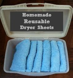 Make your own homemade reusable dryer sheets with this simple tutorial (and save money in the long run!)