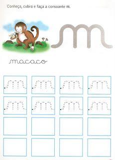 Atividades da tia: Caligrafia Alphabet Activities, Writing Activities, Preschool Activities, Homeschool, Clip Art, Teaching, Lettering, Education, Atv