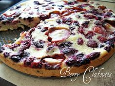 Berry (or cherry) clafoutis recipe! Very french, and perfect for a Bastille Day party or even just a quick dessert on a week night.