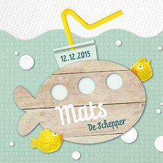 Onderzeeër - Geboortekaartje  www.carddreams.be