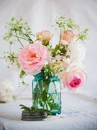 mason jar with flowers - Google Search