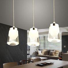 nuova forma di coppa light design moderno pendente acrilico led inclusa 3 luci 9W – EUR € 111.74