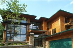 Gorgeous cedar bevel siding will add a rustic touch to your modern home's design.  from Western Red Cedar Lumber Association