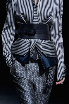 Even the pattern on the textile is Japanese inspired // Haider Ackermann Spring 2013 RTW - Review - Collections - Vogue