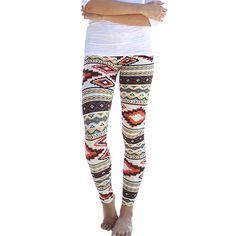 New Women's Plus Size Tribal Aztec Printed Leggings 9 Colors Long Soft Size S-XL Hot H13