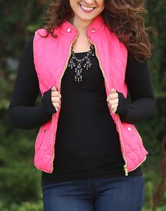 Fall In Love Puffer Vest in Rose