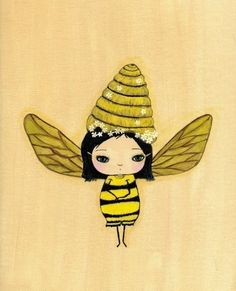 Bee Girl PrintBumblina Bee by thepoppytree on Etsy