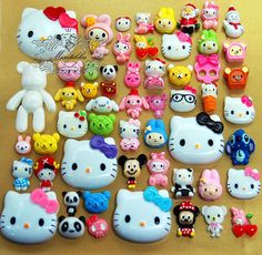 100 PCS Wholesale Cute Assorted Cabochon Decoden Accessories Mix Cabochon flat back Kawaii Deco Kit Craft Material (Cartoon Serious) AK.AM on Etsy, $19.99