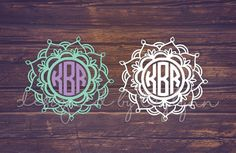 Mandala 2 Decal Yeti Decal Mandala Monogram by DesignedByTaylynn
