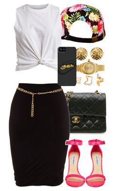 Untitled #1326 by power-beauty on Polyvore featuring polyvore, moda, style, VILA, T By Alexander Wang, Steve Madden, Chanel, Rolex and Forever 21