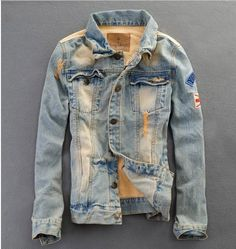 Willstyle Men's Retro Style Denim Jacket