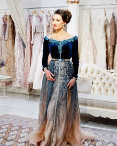 Image may contain: 1 person, standing Ball Gown Dresses, Bridal Dresses, Evening Dresses, Formal Dresses, Morrocan Dress, Moroccan Caftan, Oriental Dress, Oriental Fashion, Latest African Fashion Dresses