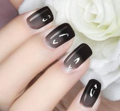 grey Thermal Temperature Color Changing Polish Peel Off Nail Polish Black to Grey. Thermal Temperature Color Changing Polish Peel Off Nail Polish Black-Gray Color Change Nail Polish, Nail Polish Colors, Gel Nail Polish, Fabulous Nails, Gorgeous Nails, Pretty Nails, Fancy Nails, My Nails, Nails Ideias