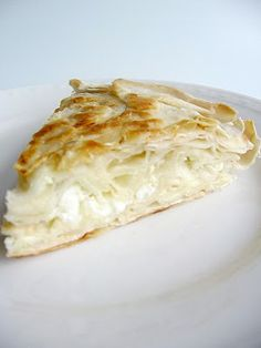 My Turkish Kitchen: TAVA BÖREĞİ Borek with milk & feta