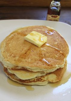 Copy Cat Cracker Barrel Pancakes / Ingredients : 2 Cups Flour .....1 tsp Baking Soda..... 1 tsp Salt 1 tbsp Sugar......2 cups Buttermilk....1 Egg.... Instructions: Combine dry ingredients in a mixing bowl, Add in the buttermilk and combine, Add in the egg and mix until just combined,Pour baking mix onto a hot griddle, Flip the pancakes when the bottoms are golden brown.