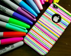Cool DIY Sharpie Crafts Projects Ideas - Homemade Creative iphone case tutorial