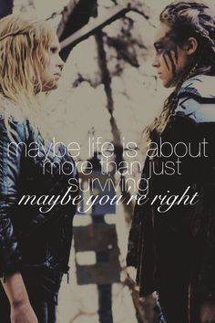 Clexa, probably the most interesting of all relationships ever :)) In a show I mean