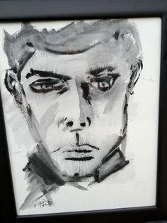 Original painting portrait gouache on paper 11x14  by MirrorChild, $150.00