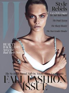 Cara Delevingne photographed by Mert Alas and Marcus Piggott for the September 2013 issue of W Magazine.