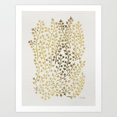 Buy Gold Ivy by Cat Coquillette as a high quality Art Print. Worldwide shipping available at Society6.com. Just one of millions of products available.