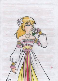 historia reiss attack on titan shingeki no kyojin princess dress pencil art draw work