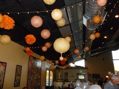 paper lanterns for the sweet sixteen party