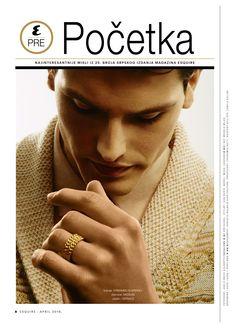 @Wearenickel Fashion editorial for Esquire Serbia Ferbuary 2016: Sasha Legrand shot by Alberto Raviglione and Adele Obice