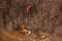 Brazil dam burst: environmental crisis reaches Atlantic – in pictures A mudslide at an iron ore mine in Brazil, in which at least 13 people died, has reignited calls for safer ways to dispose of millions of tonnes of waste as toxic mud leaks into the Atlantic ocean