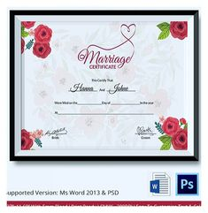 , Designing Using Marriage Certificate Template for Your Own Certificate , Marriage certificate template allows you to choose one among the seemingly endless template design options that is to your liking for an easy and simple way to write your own.