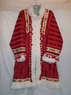 Santa Claus Coat St. Nikolas Style Old Fashioned by wrenflair