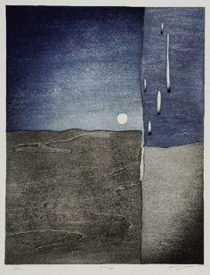 Hidehiko Goto, contemporary Japanese printmaker Moonbeam