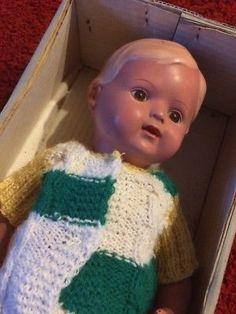 Schildkröt Puppe Christel in Ovp selten braune Augen 922/68 Ca. 38 cm groß K85