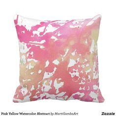 Pink Yellow Watercolor Abstract