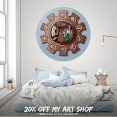 Discover «Arnolfini's Mirror by FNG», Limited Edition Disk Print by Fernando Naveiras García - From 95€ - Curioos