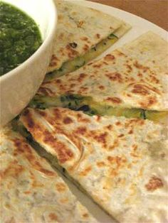 black bean zucchini quesadillas. When comfort food has gone fit. Find out how. Simply CLICK THE PHOTO :)