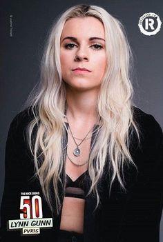 Lynn as part of the rocksound proud😍😍 Lynn Gunn PVRIS Emo Bands, Music Bands, Lynn Gunn, Much Music, Still Love Her, Pop Punk, Paramore, New People, Girl Crushes