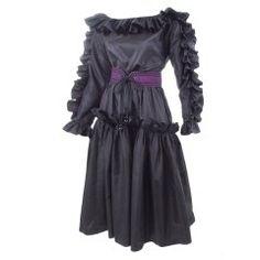 db2580dba6a Couture, Vintage and Designer Fashion - 207 For Sale at 1stdibs. Taffeta  DressSilk TaffetaBelted DressSilk DressSaint Laurent DressYves ...