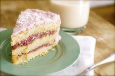 Vegan Raspberry Zinger Coconut Cake