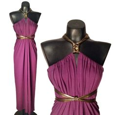 $49.99 on Etsy. Click to buy now! Pin & get 10% off with coupon code: PIN10. Plum purple jersey knit maxi length convertible SACKdress. This dress can be worn in more than 20 different ways, and one size fits ALL! #sackdress #sackdressbyanna
