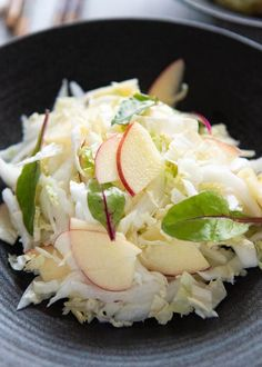 Chinese Cabbage and Apple Salad   RecipeTin Japan Apple Salad Recipes, Cabbage Recipes, Whole Food Recipes, Cooking Recipes, Chinese Cabbage Salad, Snicker Apple Salad, Kimchi Recipe, Asian Recipes, Ethnic Recipes