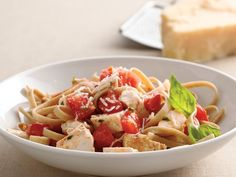 Tomato-Basil Chicken- I make this gluten free by subbing in Heartland Brand Gluten/Wheat Free pasta.