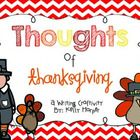 Have your students write about what they are thankful for with this fun and engaging Thanksgiving writing craftivity! This activity challenges stud...