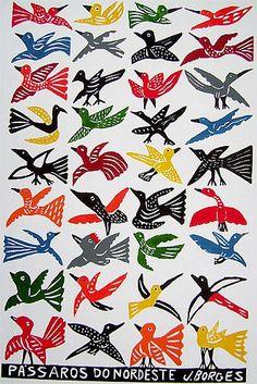 Pássaros do nordeste - J.Borges