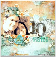 10 Years Soulmates (scrap-utopia) - Scrapbook.com 2017 Challenge, Cotton Candy, 10 Years, Sprays, Scrapbook Pages, Challenges, Numbers, February, Numeracy
