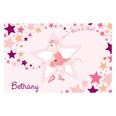 The Official PBS KIDS Shop | Angelina Ballerina You're a Star! Placemat