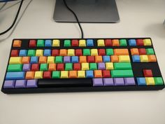 My first mechanical keyboard! Because single colored keyboards are boring.