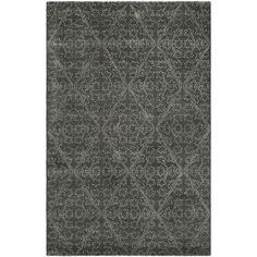Martha Stewart Strolling Rock Garden/ Grey Wool/ Viscose Rug (8' 6 x 11' 6)
