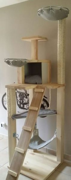 40 Cool DIY Cat Tree Kitty Condos or Cat Climbers playground outdoor diy – Tracy – Cat playground outdoor Cat Tree Designs, Diy Cat Tower, Cat Play Tower, Cat Climber, Cat Towers, Wood Cat, Cat Playground, Outdoor Playground, Cat Condo