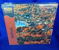 Autumn Harbor Springbok Puzzle Factory Sealed 1500 Pieces Jigsaw Fall Sailboats #HallmarkSpringbok